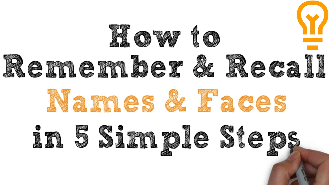 How to Remember Names and Faces (Video 2)