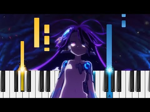 No Game No Life: Zero - There is a Reason - EASY Piano Tutorial - ノーゲーム・ノーライフ ゼロ