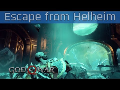 God of War (PS4) - Escape from Helheim Walkthrough [HD 1080P]