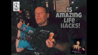 Mondays with Marc! | 15 AMAZING Life Hacks! :)