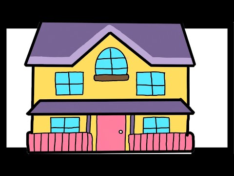 Drawing Houses For Kids On IPAD PRO | Coloring Pages For Kids | Learn Art Easy | Learn Colors Houses