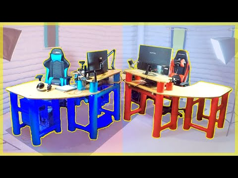 DIY Custom PVC Gaming Desk | Full Version