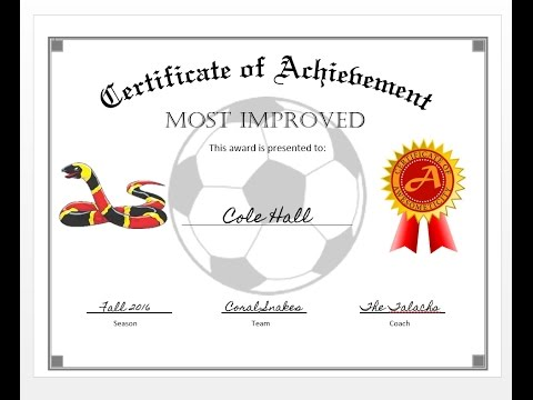 How to easily make a certificate of achievement award with MS Word