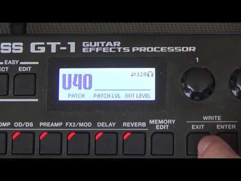 Boss GT-1│Multi Effects Processor│Tutorial - Set-up Basics.