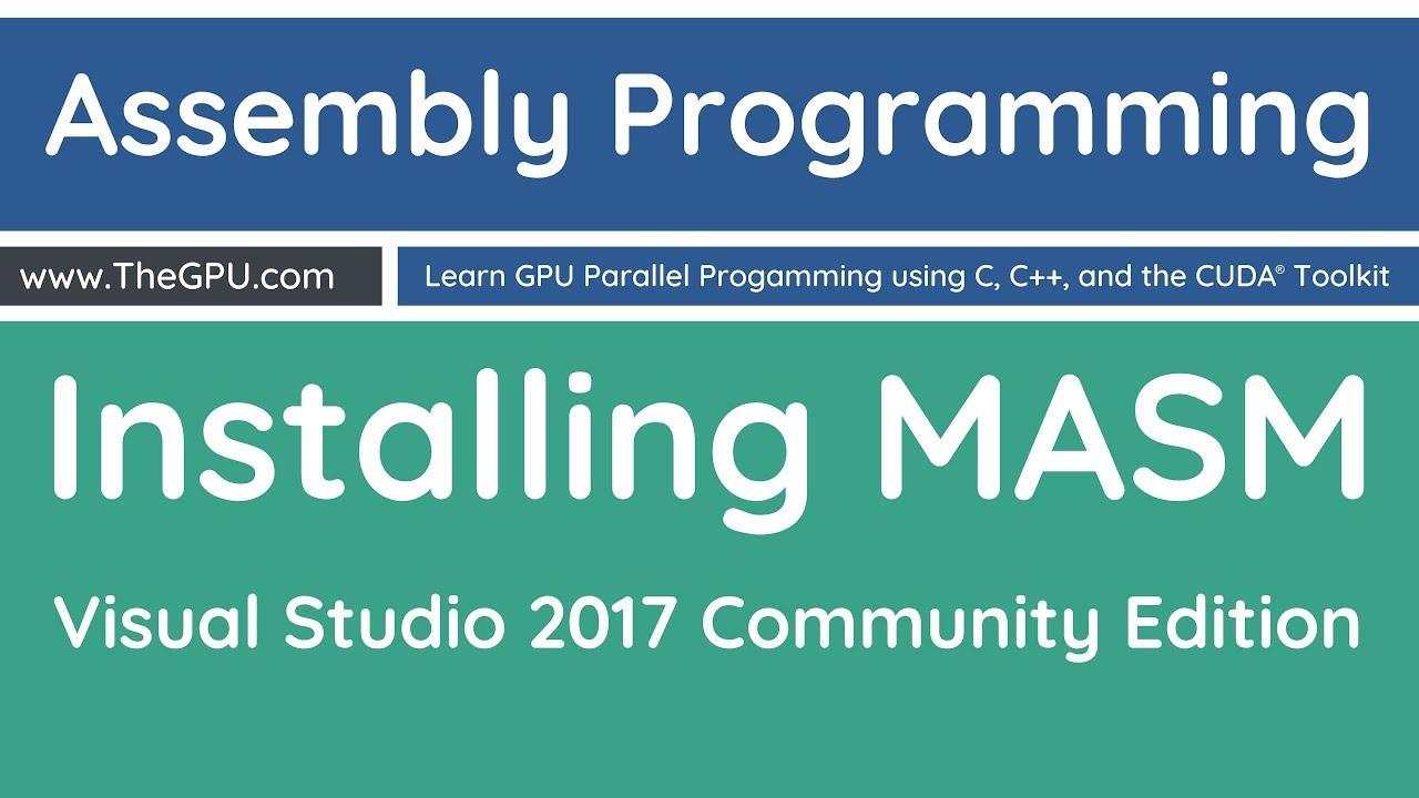 Learn Assembly Language Programming - Installing MASM - Microsoft Macro  Assembler