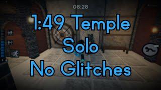 [New World Record] Temple Solo In 1:49 || Roblox Piggy Speedrun