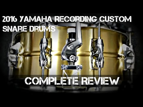 2016 Yamaha *RECORDING CUSTOM SNARE DRUMS* - Complete Review