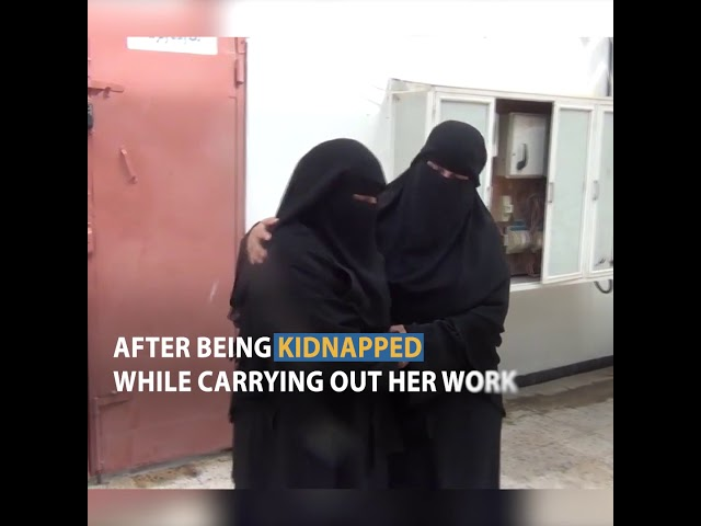 The detainee Ms. Thekra Said talking about her experience in prison