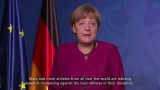 German chancellor angela merkel wishes international paralympic committee happy 25th anniversary