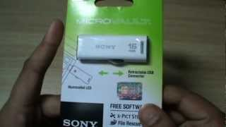 Sony MicroVault 16GB USB 2.0 Retractable PenDrive Unboxing