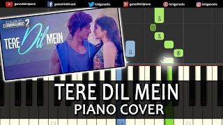 Tere Dil Mein Commando 2|Armaan Malik|Hindi Song|Piano Chords Tutorial Instrumental By Ganesh Kini