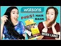 Trying Affordable Watsons Hair Products- HairFix Deep Repair Intense Straight Review