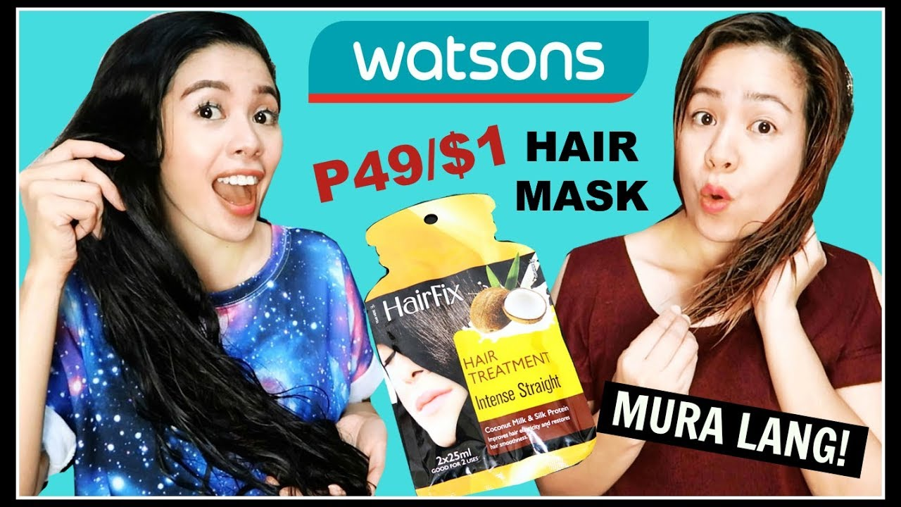 Trying Affordable Watsons Hair Products Hairfix Deep Repair Intense