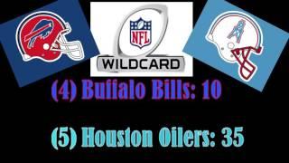 """The Comeback"" Houston Oilers @ Buffalo Bills: 1993 AFC Wildcard"