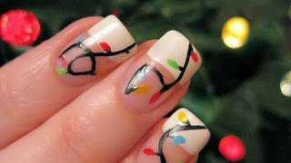 Christmas Nail Art: Holiday Lights