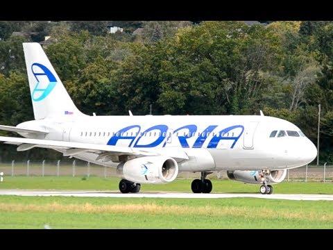 Adria Airways A319 - Takeoff at Airport Bern-Belp HD