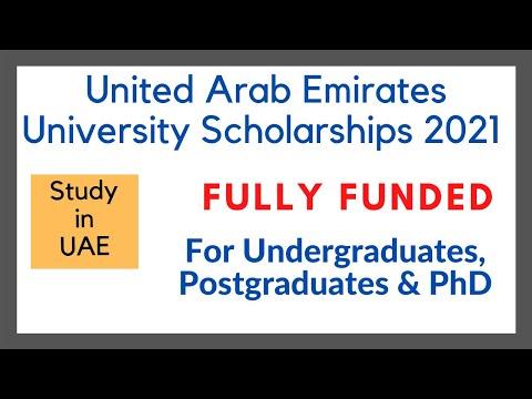 United Arab Emirates University Scholarships (how to apply)