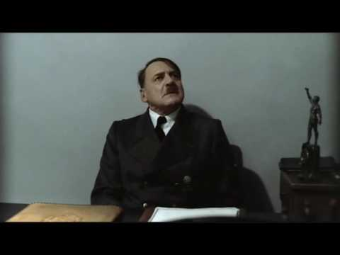 Hitler is informed he is sitting down