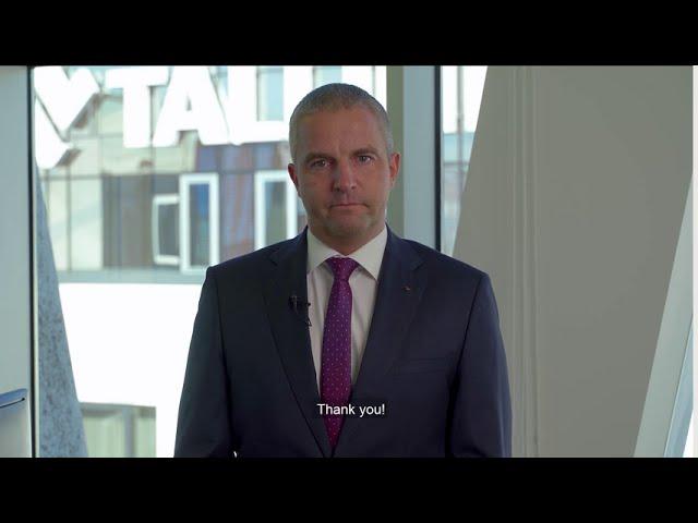 MyStar keel laying ceremony 18.09.2020 – Tallink Grupp CEO Paavo Nõgene