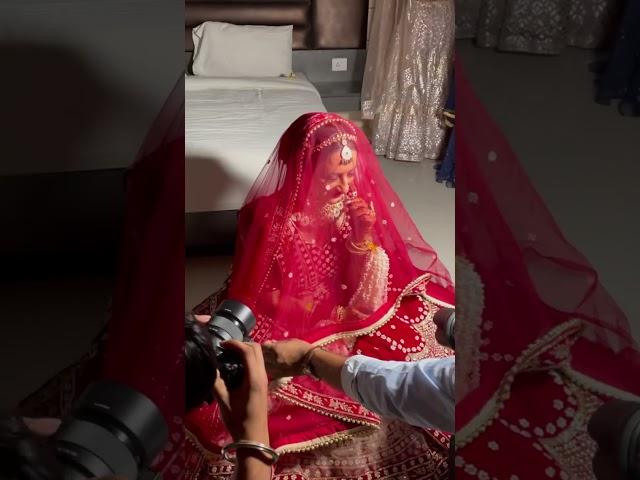 Bridal Portraits Photoshoot on Wedding Day #shorts