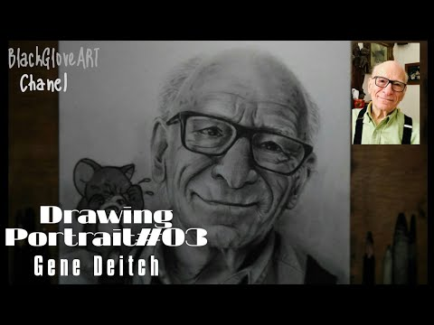 Tribute Gene Deitch || Drawing Portrait || Sketch || How to draw || Tom and Jerry