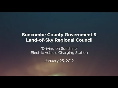 Buncombe News Update :: Electric Vehicle Charging Station