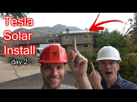We Have Tesla Solar On The Roof! Install Day 2!