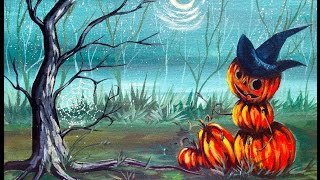 Hart Party Beginner Art Acrylic Lesson Halloween Pumpkin Painting Party Step By Step Easy