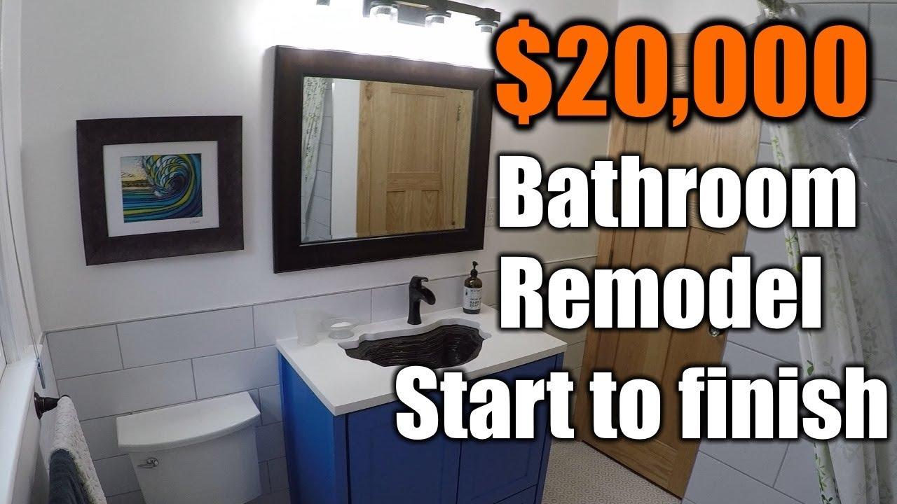 $20,000 Bathroom Remodel Start To Finish | THE HANDYMAN ...