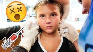 😱 JAEDYN GETS HER EARS PIERCED! 💉   Slyfox Family
