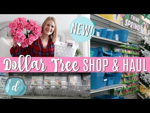 NEW! DOLLAR TREE SHOP WITH ME & HAUL! 💟 Valentine's, Quick DIYs, Organization 2018