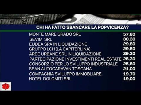 Banca di Vicenza la lista dei debitori che ha fatto sbancare la POPVicenza