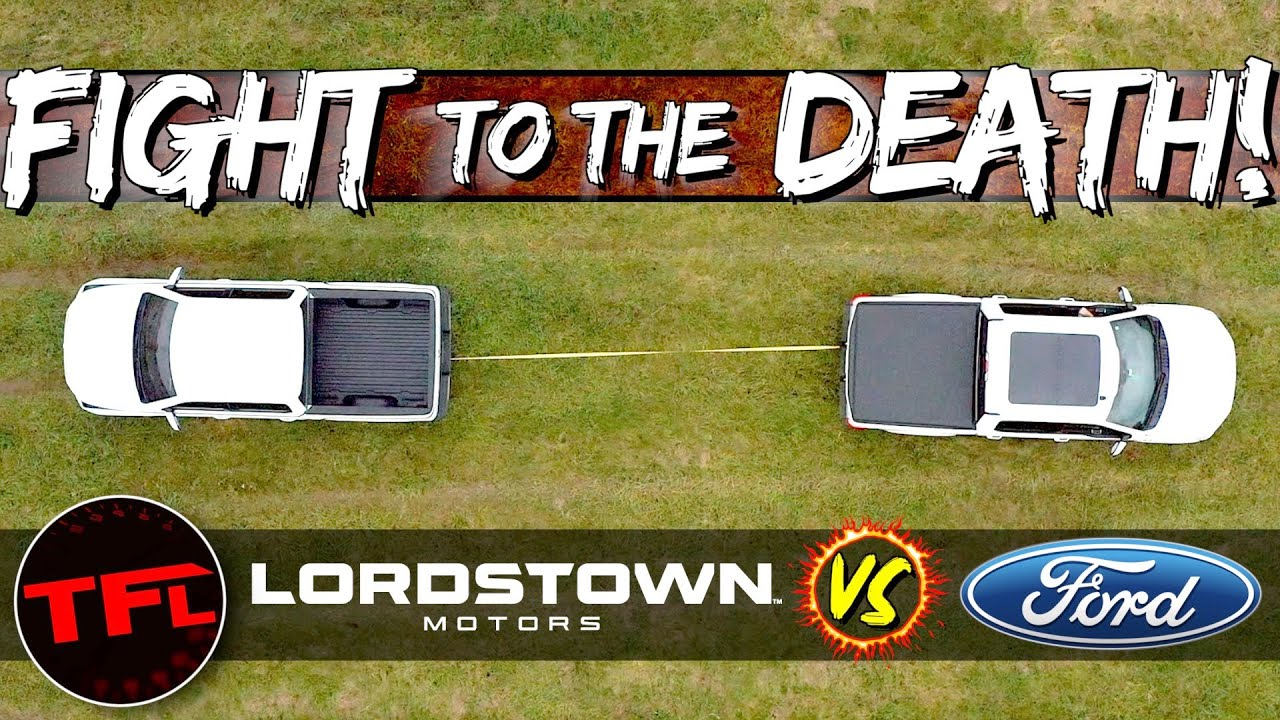 Let's Get Ready To Rumble: Electric Lordstown Endurance vs. Ford F-150 Tug Of War TO THE DEATH!