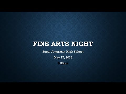 Spring Fine Arts Night #2 2018