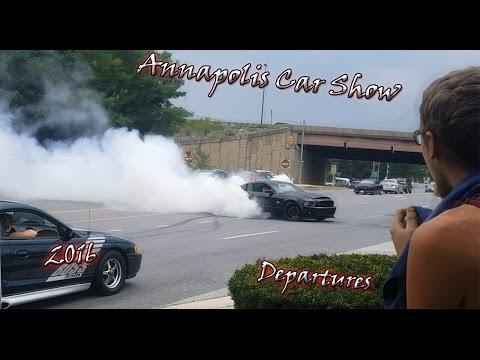 Annapolis Car Show 2016 Departures / Burnouts / Flybys
