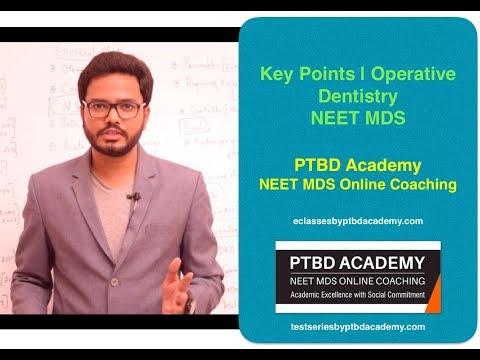Key Points | Conservative Dentistry | NEET MDS