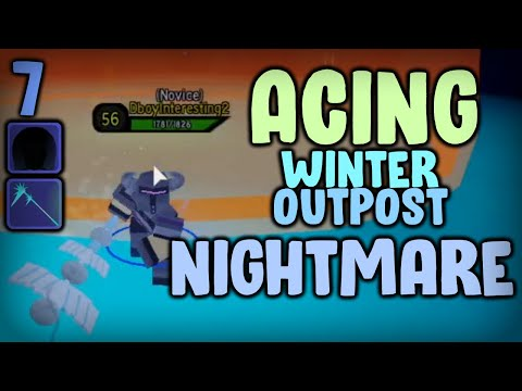 ACING Winter Outpost NM With DOWN-GRADED GEAR! Noob To Pro #7 | Dungeon Quest Roblox