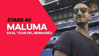 Maluma visita el Santiago Bernabéu