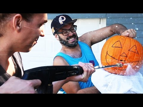 Pressure Washer Pumpkin Carving!