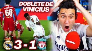 REACCIONES DE UN HINCHA Real Madrid vs Liverpool 3-1 *DOBLETE DE VINICIUS*
