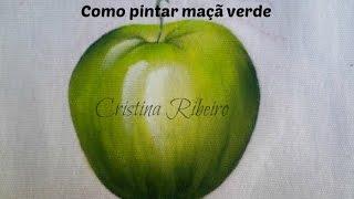 Dicas de pintura grátis – Como pintar maçã verde por Cristina Ribeiro
