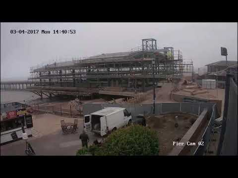Building of the new Felixstowe Pier in less than a minute