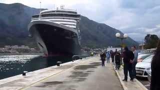 """Черногория. Швартовка круизного лайнера """"NOORDAM"""" в Которе"""