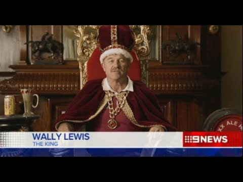 Qldaah! State of Origin is upon us again: King Wally is crowned, robed & the XXXX is ready