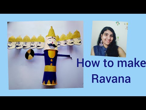How to make Ravana with Paper cups for Dussehra and diwali