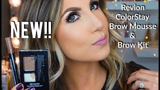 NEW!! REVLON BROW MOUSSE & BROW KIT | DEMO & REVIEW