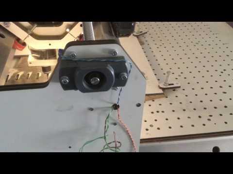 DIY CNC router, unusual x-axis design, more details.