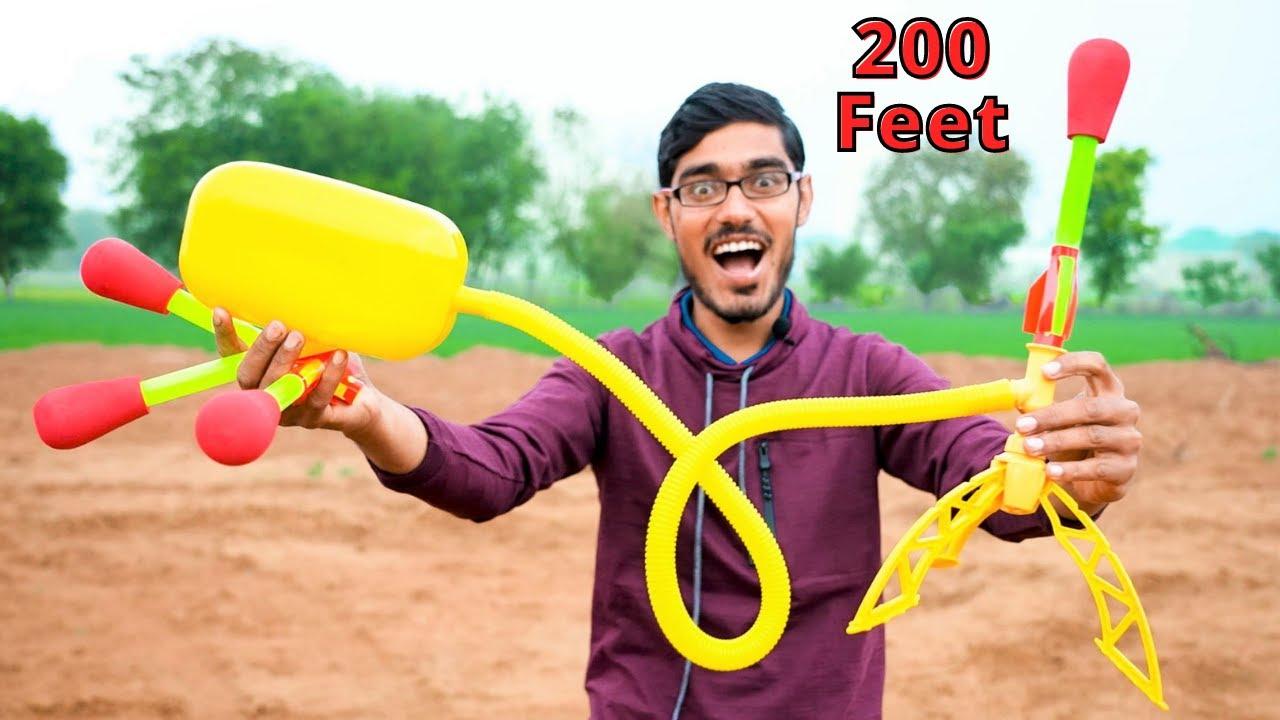 Unboxing & Testing 200 Feet Stomp Rocket | ये राकेट आपके कूदने पे उड़ता है |