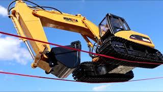 RC Excavator Stunt Trials & Beach Work - 1/12 SCALE, 2.4 Ghz