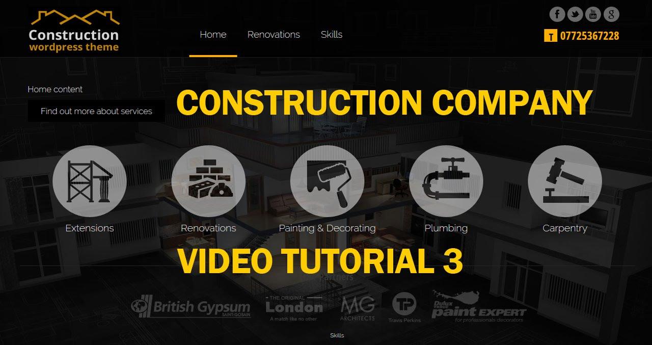 Construction Company Wordpress Theme Tutorial Testimonial Slider